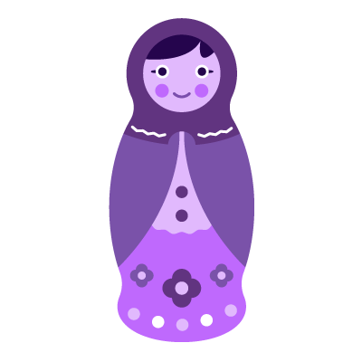 a single babushka doll